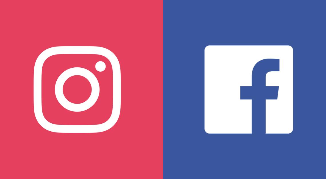 Фейсбук и Инстаграм логотипы